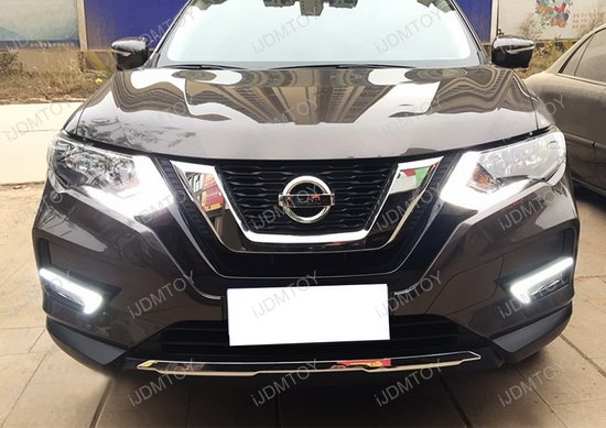 2017 Up Nissan Rogue Led Daytime Running Lights Turn Signal Lamps