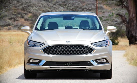 2017 Up Ford Fusion Led Daytime Running Lights W Bezel Covers