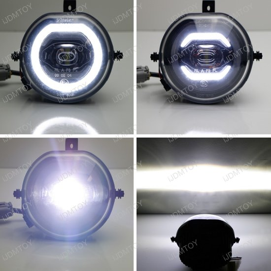 mini cooper full led halo ring drl lights parking fog. Black Bedroom Furniture Sets. Home Design Ideas