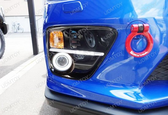 Subaru Wrx Sti Projector Fog Light Kit With Led Halo Ring