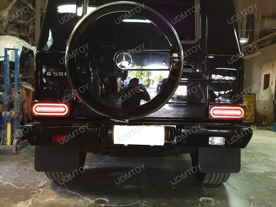 Mercedes G Class LED Tail Light 06 mercedes w463 g class full led turn signal or tail lights Chevy Tail Light Wiring Diagram at gsmportal.co