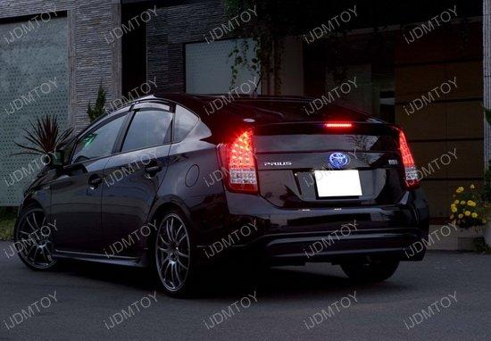 Smoke 3D LED Tube/9-LED 3rd Brake Light Assembly For ... Prius V 2014 Red