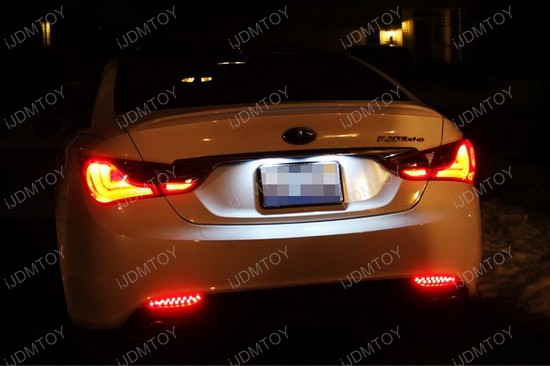 Hyundai Sonata Exact Fit LED License Plate Lamps