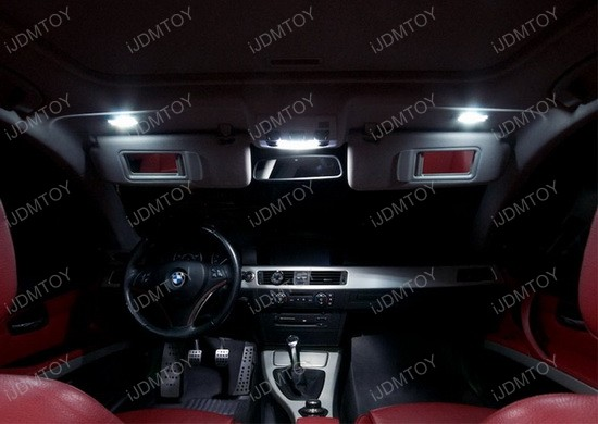 Xenon White Error Free LED Vanity Mirror Lights For BMW 3 5 Series X1 X3 X5 X6 eBay
