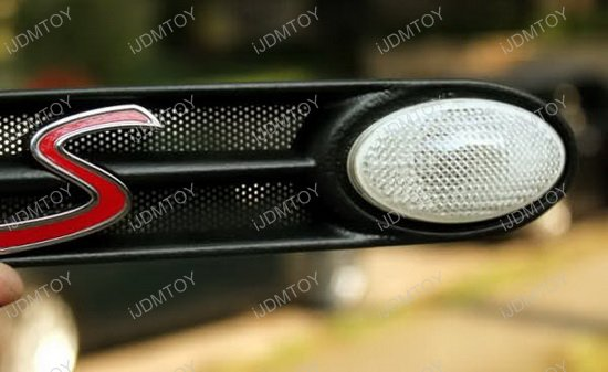 Amber Led Clear Lens Side Marker Lights For Mini Cooper