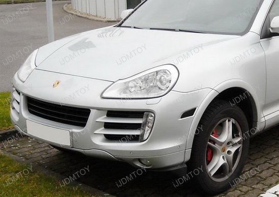 Porsche Cayenne switchback amber white LED side marker lights