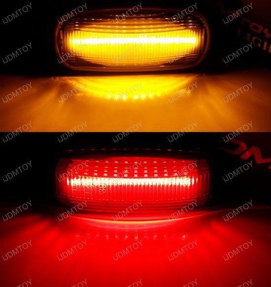 Dodge RAM 2500 3500 HD Front & Rear Fender LED Side Marker Lamps