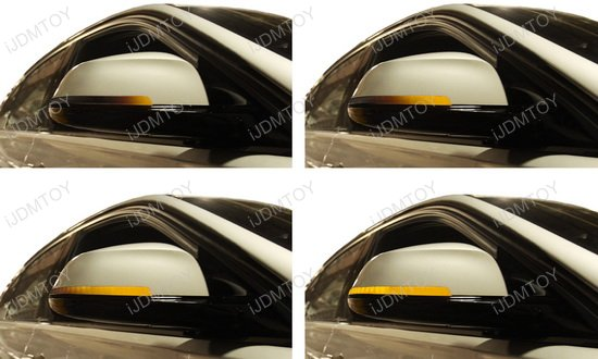 Side Mirror Sequential Turn Signal Light For 1 2 3 4