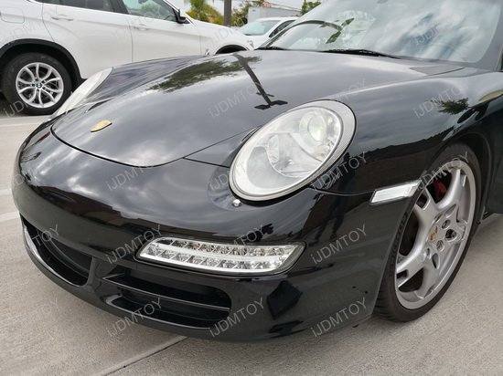 Porsche Clear LED side marker lights