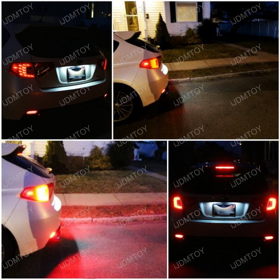 Subaru WRX STi LED Bumper Reflectors Rear Fog Lights