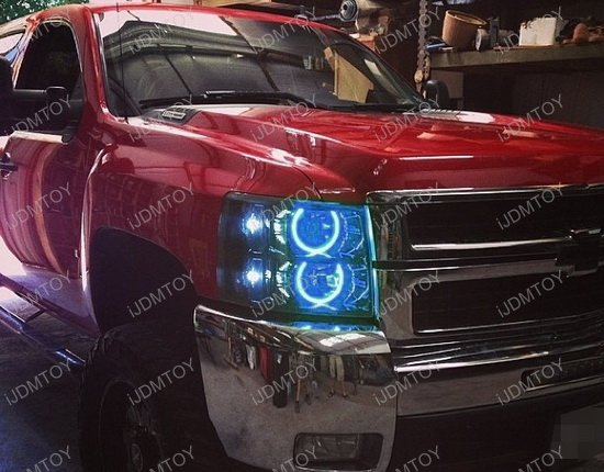 120 Smd Rgb Multi Color Led Halo Ring Kit For Gmc Chevy Truck