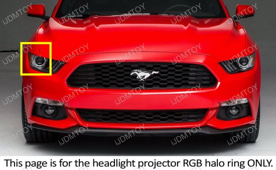 2015-up Ford Mustang RBG LED Angel Eye Halo Rings