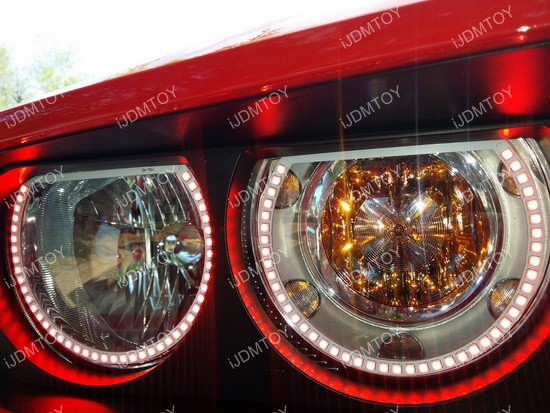 Dodge Challenger RBG LED Angel Eye Halo Rings