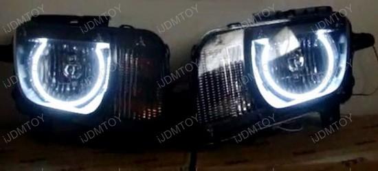 Chevy Camaro Xenon White  LED Angel Eye Halo Rings