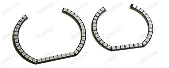 horseshoe rgb led halo rings for bmw 2 3 4 series  f22 e92