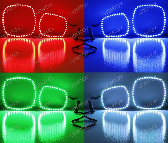 RGB Dodge Charger LED Angel Eyes LED Halo Rings