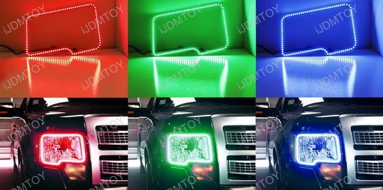 Ford F150 RGB LED Angel Eyes LED Halo Rings