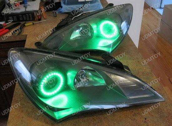 Hyundai Genesis Coupe RBG LED Angel Eye Halo Rings