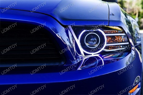 Ford Mustang RGB LED Angel Eyes LED Halo Rings