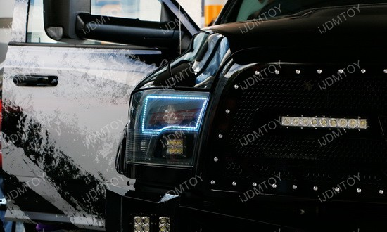 Dodge RAM RGB LED Angel Eyes LED Halo Rings