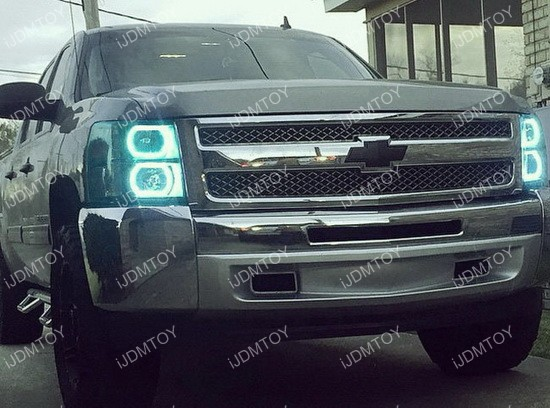 Chevy GMC RGB LED Angel Eyes LED Halo Rings