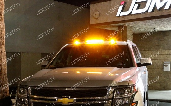 Truck Roof Top Amber LED Cab Marker Running Lights