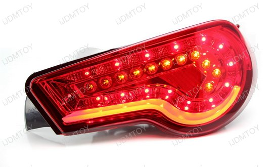 13-15 Scion FR-S Black Red Housing Aftermarket LED Taillights