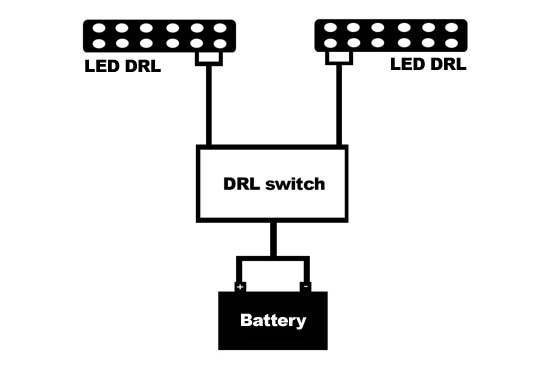 Diagram For LED Daytime Running Lights Finding ACC 12V Power