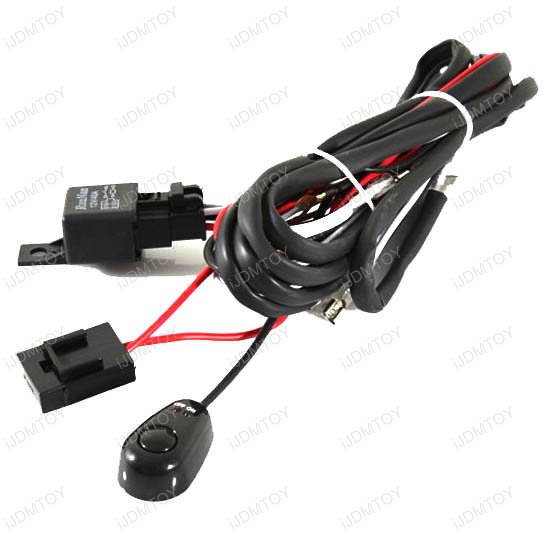 Universal Fit Relay w Switch 01 hid conversion kit wire hid relay kit hid relay harness wiring  at fashall.co