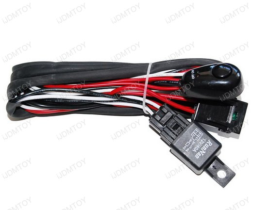 Universal Fit Relay w Switch 02 hid conversion kit wire hid relay kit hid relay harness wiring  at bayanpartner.co