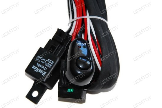 Universal Fit Relay w Switch 04 hid conversion kit wire hid relay kit hid relay harness wiring  at readyjetset.co