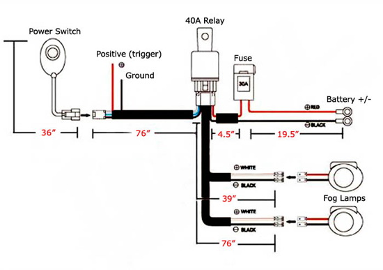 Universal Relay Wiring Kit w/ Switch