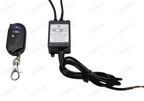 12V Wireless Remote with Solid Light and Flash Strobe Function