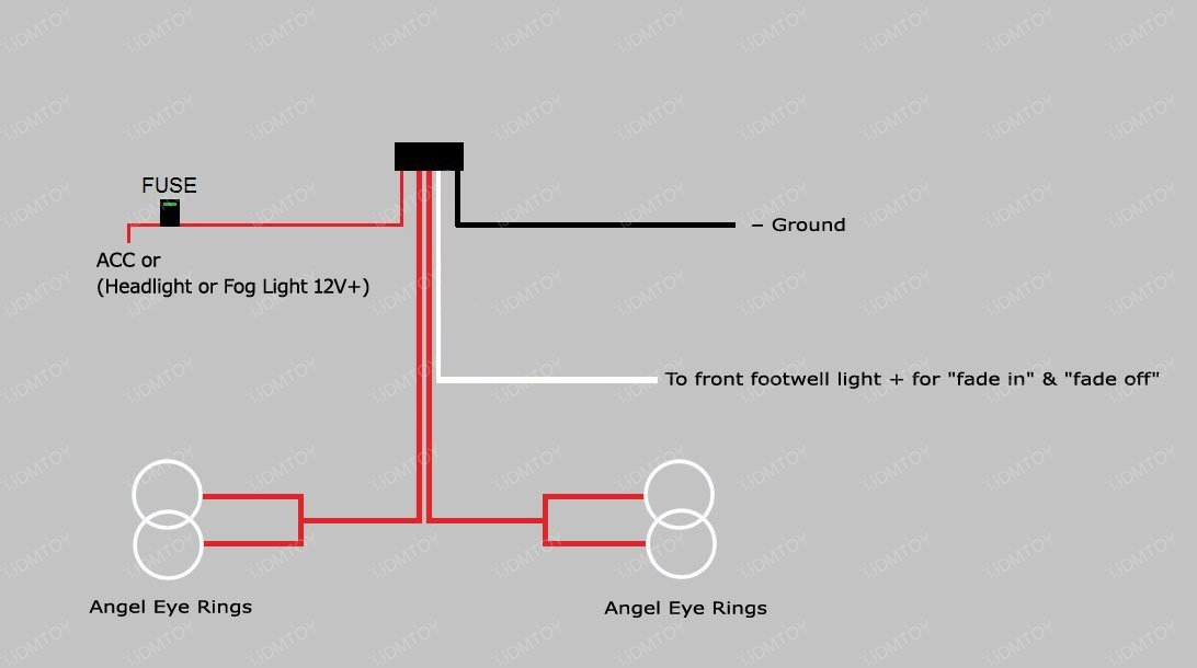 bmw headlights angel eyes halo rings led or ccfl relay harness. Black Bedroom Furniture Sets. Home Design Ideas