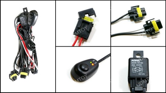 H8 H11 Relay Wiring Kit w/ Switch