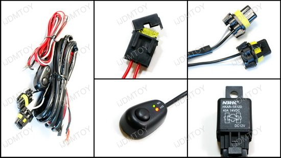 HB3 HB4 Relay Switch Harness