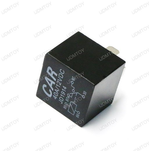 5-Pin SPDT Relay 4-Wire Fuse Socket Wires