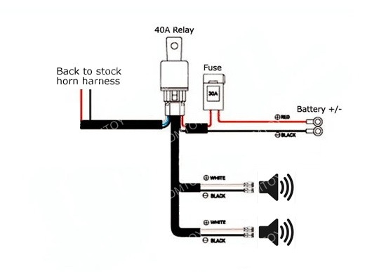 Horn Relay Harness Kit