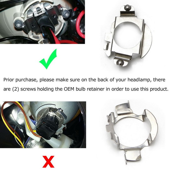 LED Headlight Bulbs Retainer