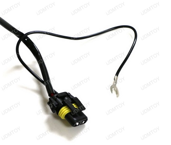 motorcycle bike single lamp hid conversion kit relay. Black Bedroom Furniture Sets. Home Design Ideas