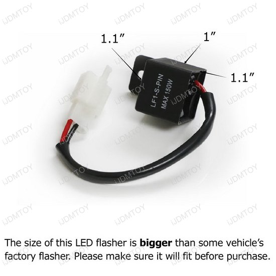 2-Pin Flasher For Motorcycle Bike