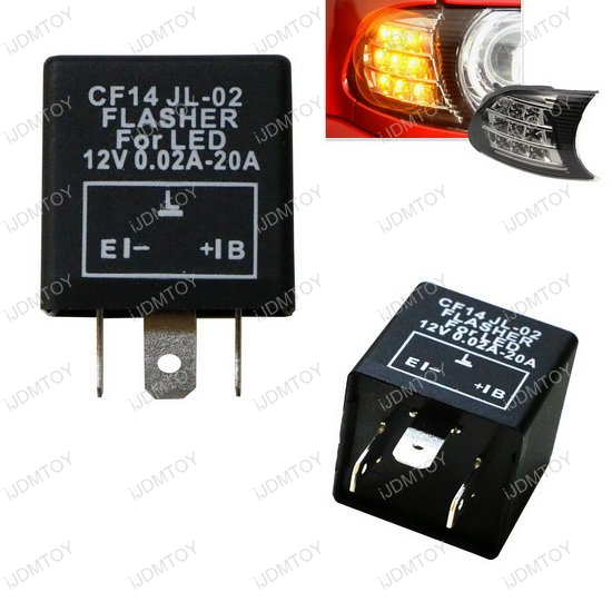 CF14 LED Flasher 00 3 pin 12v cf14 cf 14 jl 02 ep35 led flasher blinker bulbs relay fix ep35 flasher wiring diagram at readyjetset.co