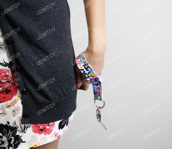 JDM Graffiti Graphics Lanyard Wristlet By iJDMTOY.com