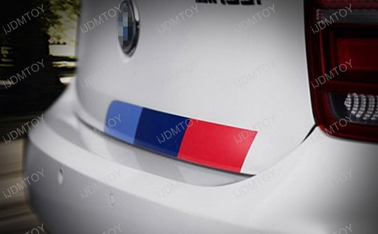 3-Color Side Bumper Reflective Decal