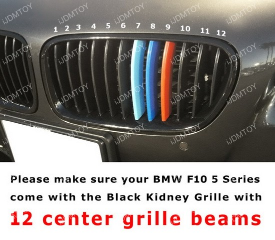 BMW 5 Series M performance grille - grille beams