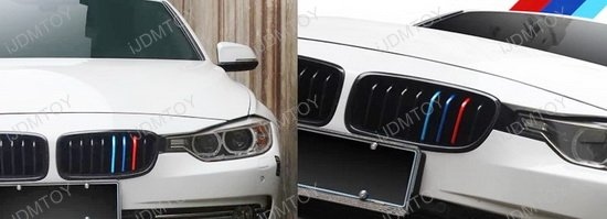 MColored Stripe Decal Stickers For BMW Exterior Or Interior - Bmw grille stripe decals