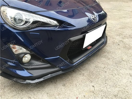 Carbon Fiber Pattern Front Bumper Lip Trim