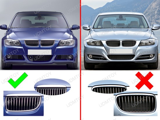 grille insert trims for bmw e90 e91 lci 3 series center. Black Bedroom Furniture Sets. Home Design Ideas