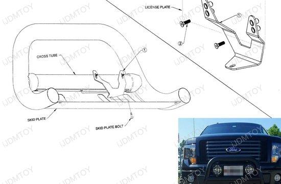 Bullbar License Plate Relocator