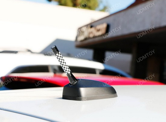 MINI Cooper Checkered Style Short Antenna